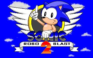 Pantalla de título de Sonic Robo Blast 2