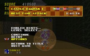 Castle Eggman 1 - Pause Menu